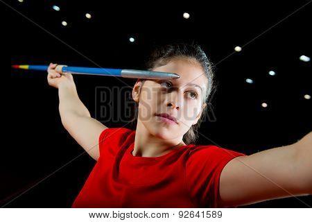 Girl Javelin Thrower