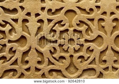 Relief Wall Carving Background