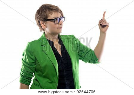 Image of puzzled businesswoman
