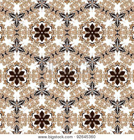 Primitive simple retro seamless pattern mosaic