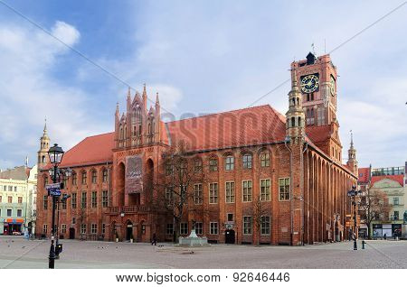 Gothic town hall in Torun, Poland.