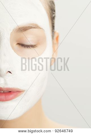 Woman In Cosmetic Mask