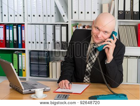 Young Businessman Is Calling