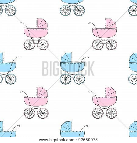 Seamless Pattern With Carriages