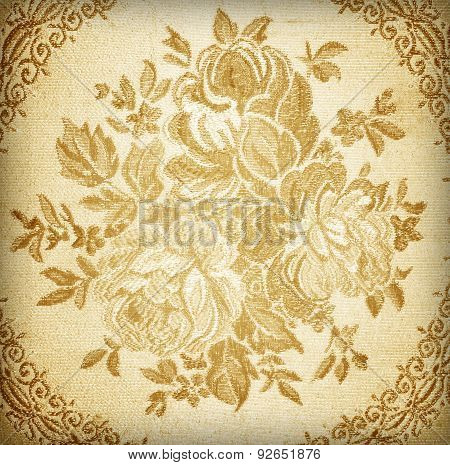 Silk Fabric Embroidery Floral