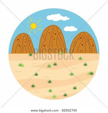 Circle Locations, Little Landscape (sunny Safari Day)