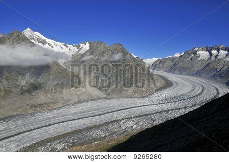 Mighty Aletsch Glacier