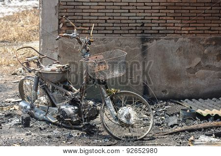 Burnt Motorcycle Or Insurance Matters