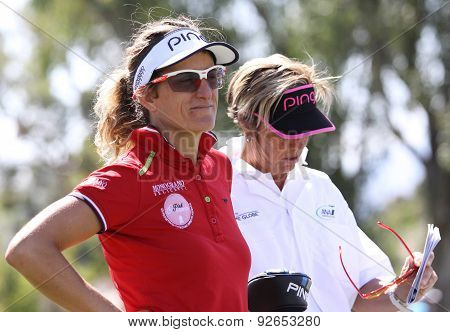 Giulia Sergas At The Ana Inspiration Golf Tournament 2015