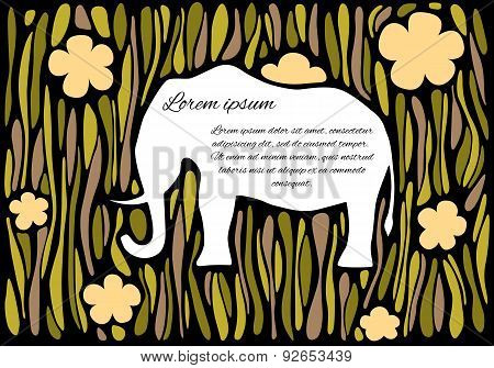 Silhouette Of An Elephant In Jungle