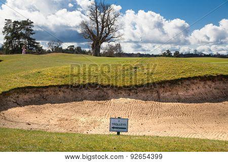 UK, SUSSEX- April 11, 2015: Knole local golf club.