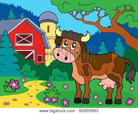 Cow theme image 2 - eps10 vector illustration.