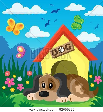 Dog thematic image 2 - eps10 vector illustration.