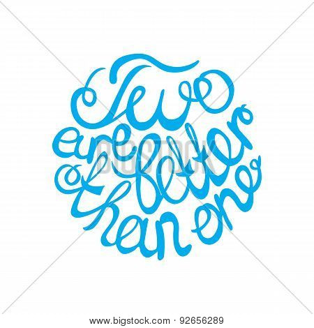 Lettering element in blue color for wedding design