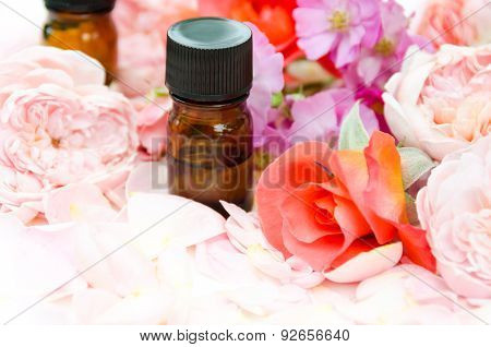 essential oils wit roses