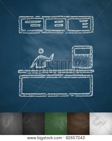 cash desk icon