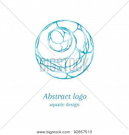 Abstract Aquatic Logo
