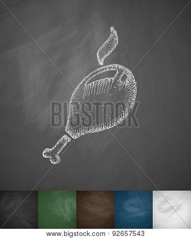 chicken drumstick icon
