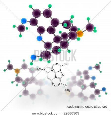 Codeine Molecule Structure