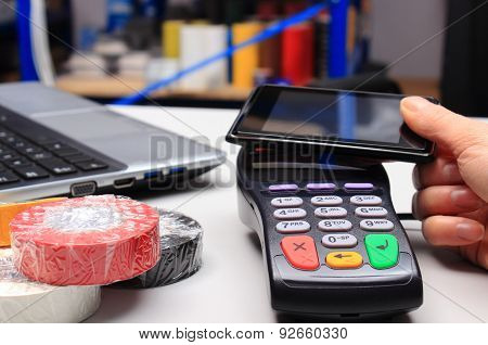 Paying With Nfc Technology On Mobile Phone