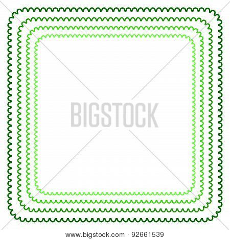 Vector Frame In Shades Of Green