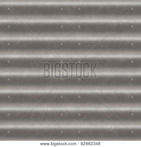 Corrugated Iron Seamless Generated Texture