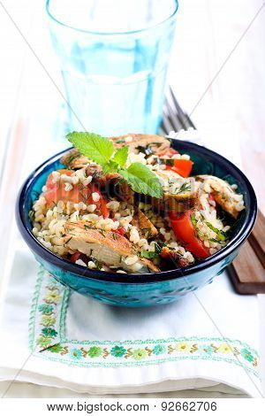 Warm Chicken Tabbouleh