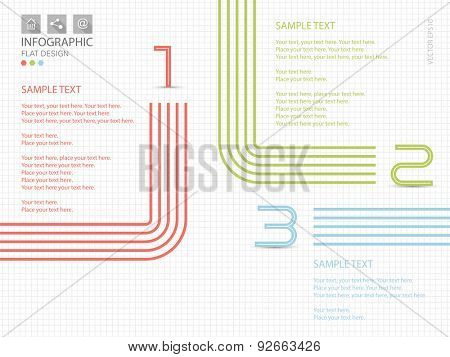 Global infographic on squared paper background