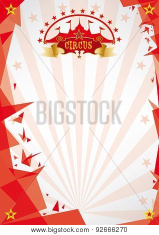 Circus red background origami. A circus futuristic background, origami style, for your poster. Enjoy