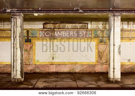 Chambers Street Subway Station - New York City