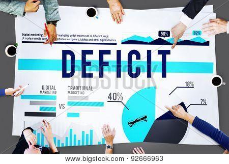 Deficit Problem Crisis Finance Marketing Concept