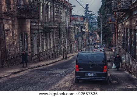 Streets Of Old City Tbilisi, Georgia