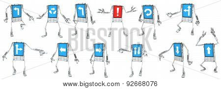 Phone Robot, Direction Signs