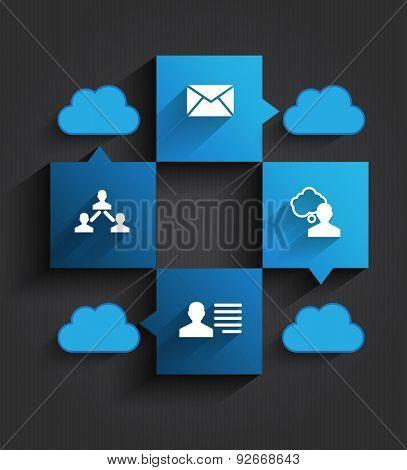 Business and social media design