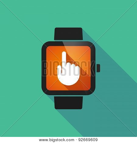 Smart Watch With A  Pointing Hand