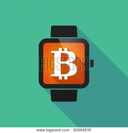 Smart Watch With A Bit Coin Sign
