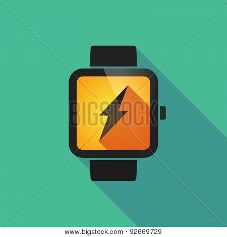 Smart Watch With A Biohazard Sign