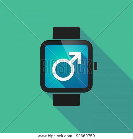 Smart Watch With A Male Sign