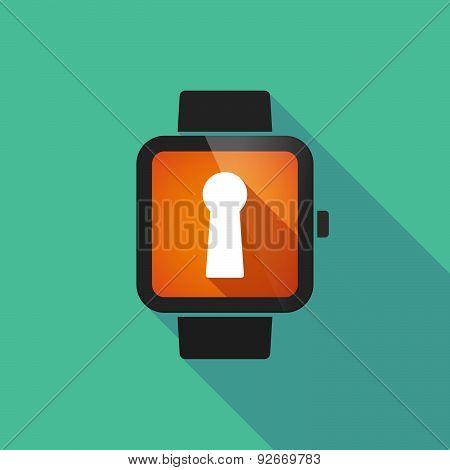 Smart Watch With A Key Hole