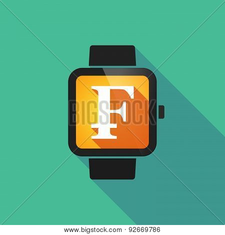 Smart Watch With A Swiss Franc Sign