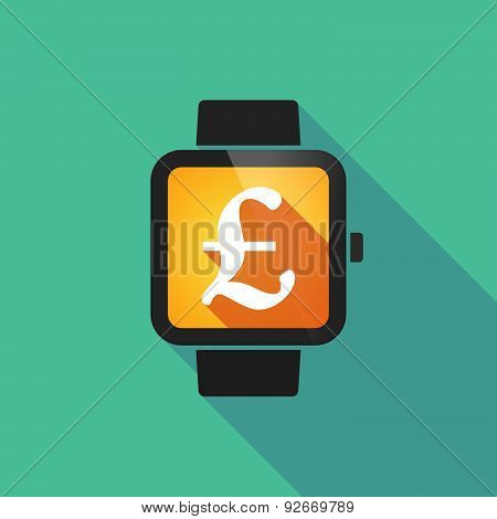 Smart Watch With A  Pound Sign