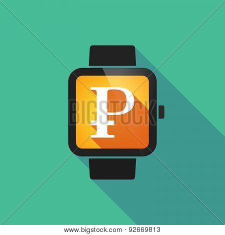 Smart Watch With A Ruble Sign