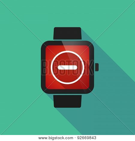 Smart Watch With A Subtraction Sign