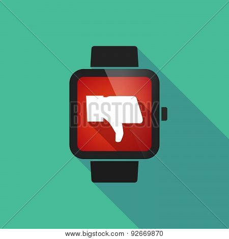 Smart Watch With A  Thumb Hand