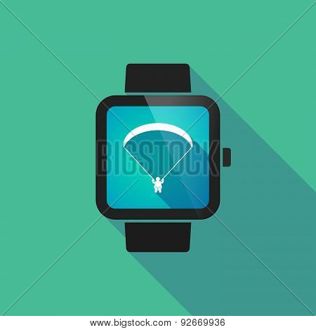 Smart Watch With A Paraglider