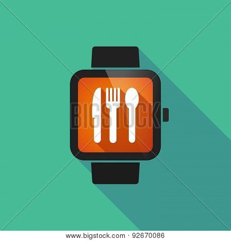 Smart Watch With Cutlery