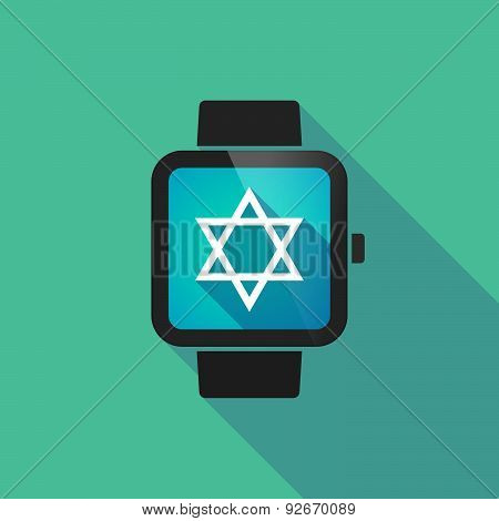 Smart Watch With A David Star