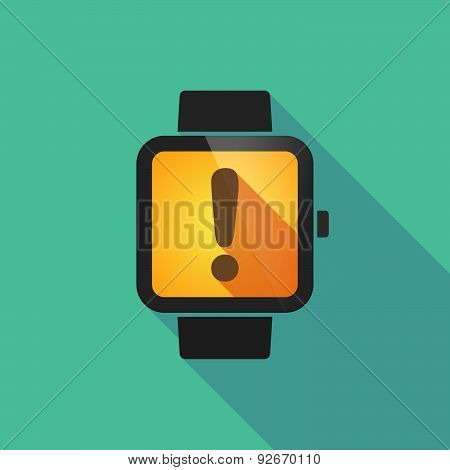 Smart Watch With An Exclamation Sign