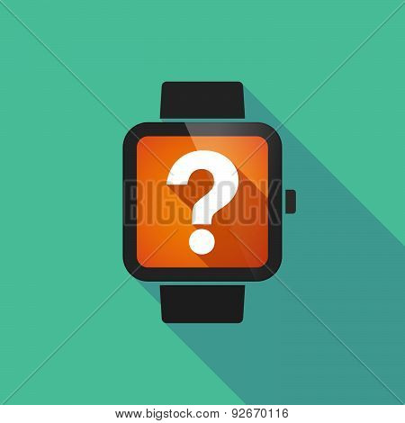 Smart Watch With A Question Sign