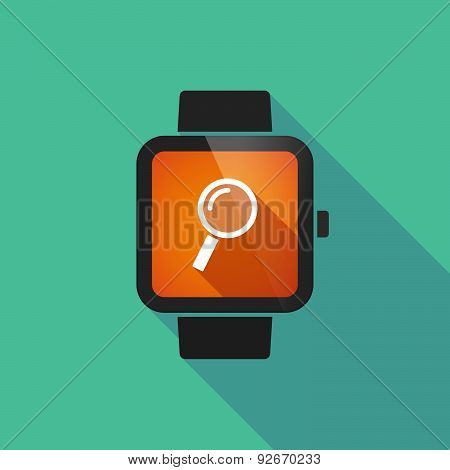 Smart Watch With A Magnifier